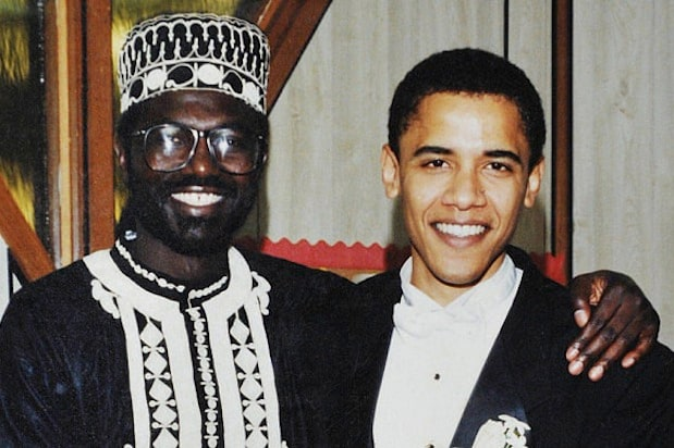 barack obama malik obama wedding photo