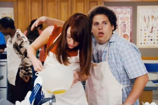 Emma Stone and Jonah Hill in Superbad