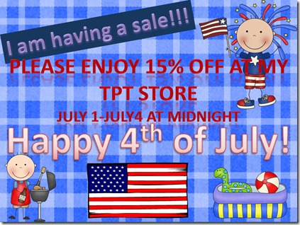 Fourth of July Sale, Happy Summer!