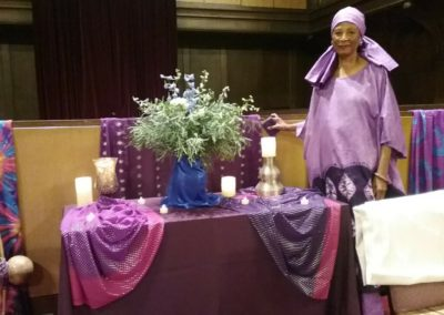 Harriet with Alice Walker Desert Rose Altar