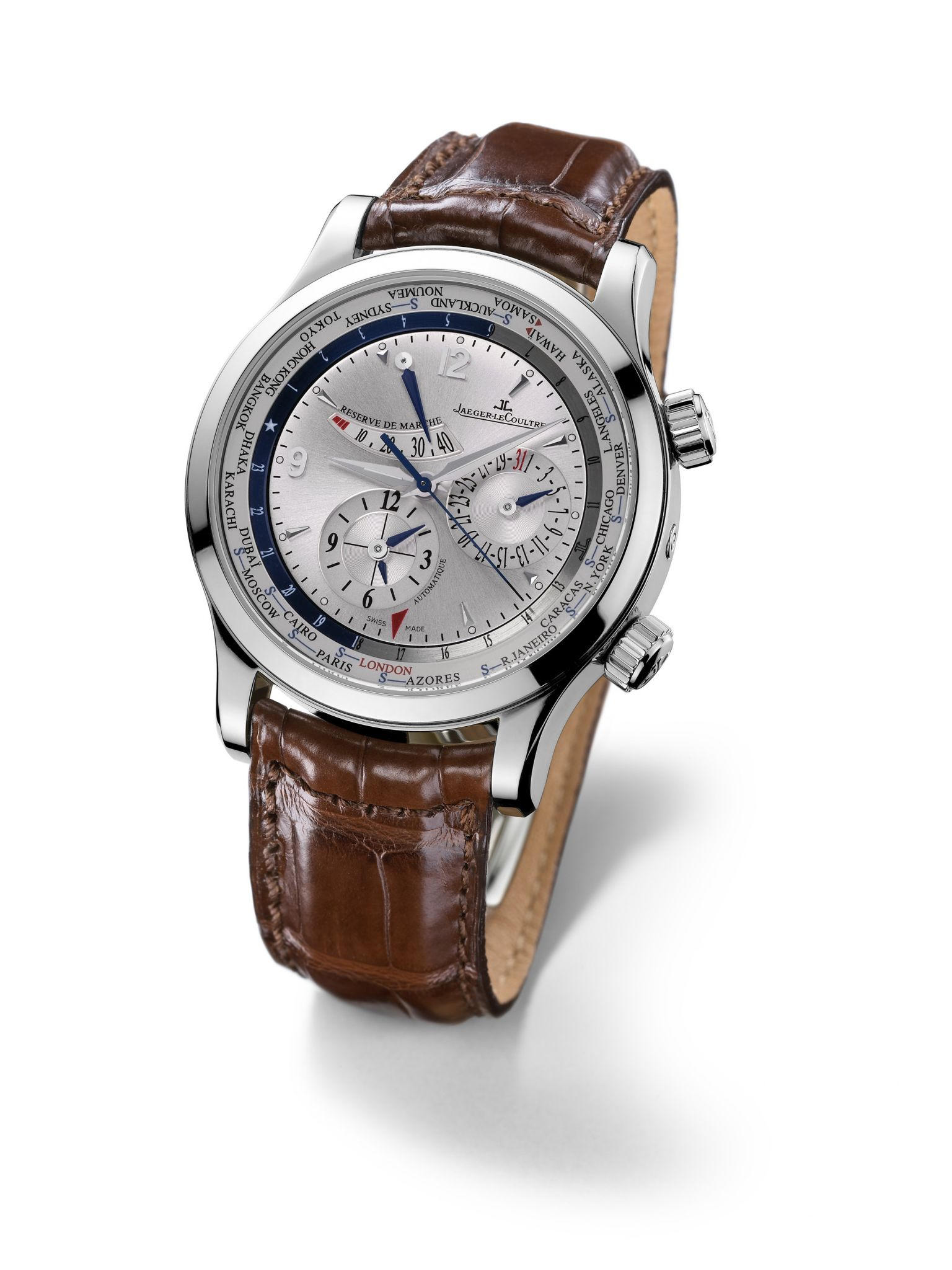 The Jaeger-LeCoultre Master World Geographic Mens Watch Chronograph