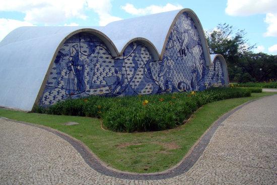 Oscar Neimeyer Church in Pampulha, Brazil