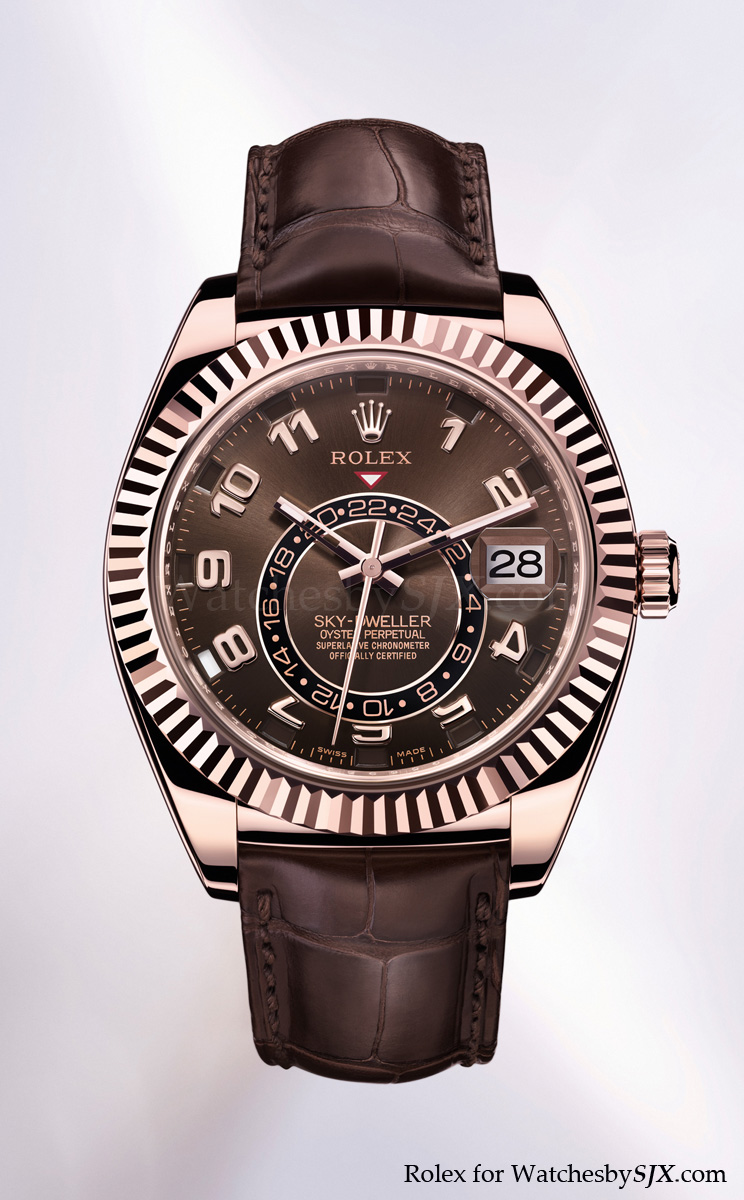 roles rose gold men's watch