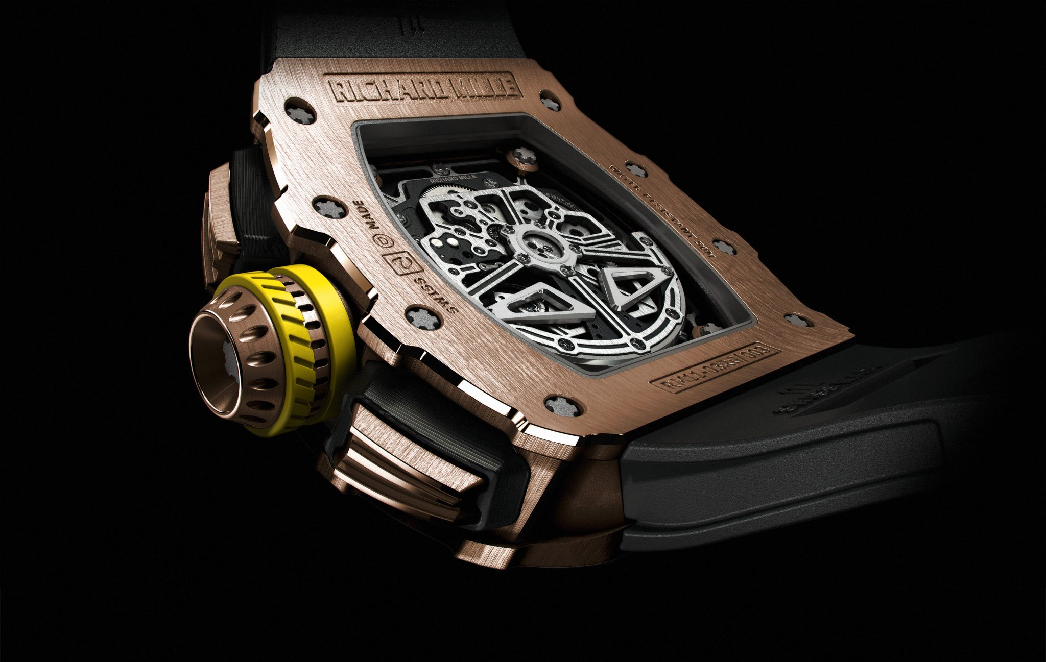 The Richard Mille RM11-03 rose gold mens watch chronograph