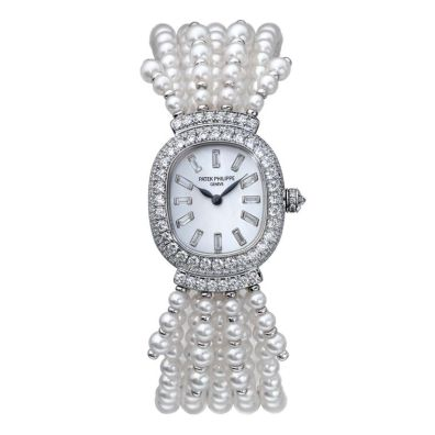Queen Elizabeth's Diamond Patek Philippe Watch with Pearl Bracelet