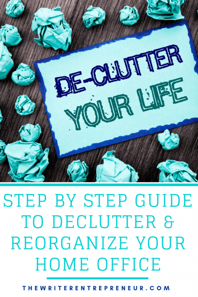 step by step guide to declutter and organize your home office