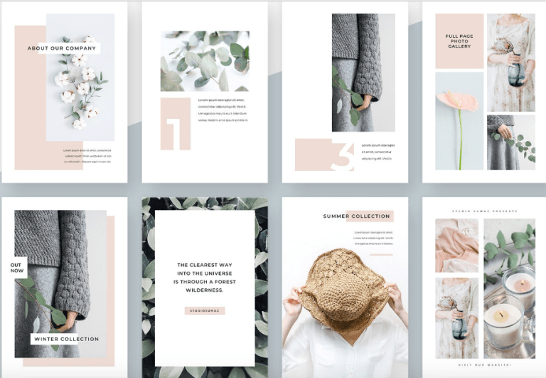 Free Magnolia Vertical PowerPoint