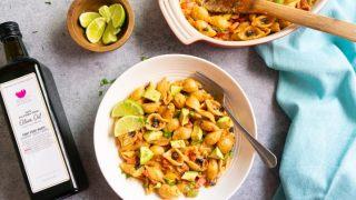 Vegetarian Fajita Pasta – Instant Pot & Stovetop