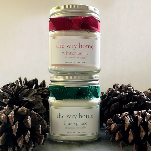 The Wry Home Holiday Candles