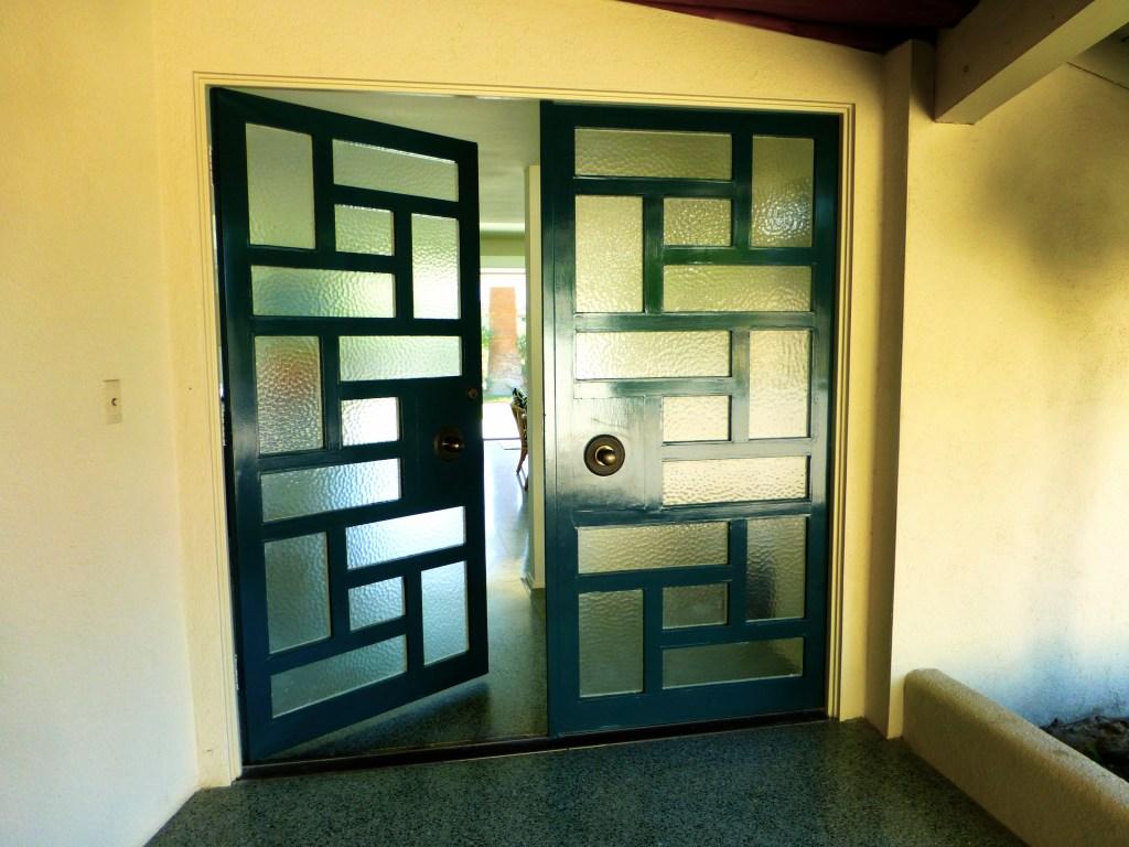Fabulous midcentury modern front door