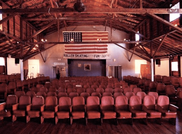 View of the inside from the stage