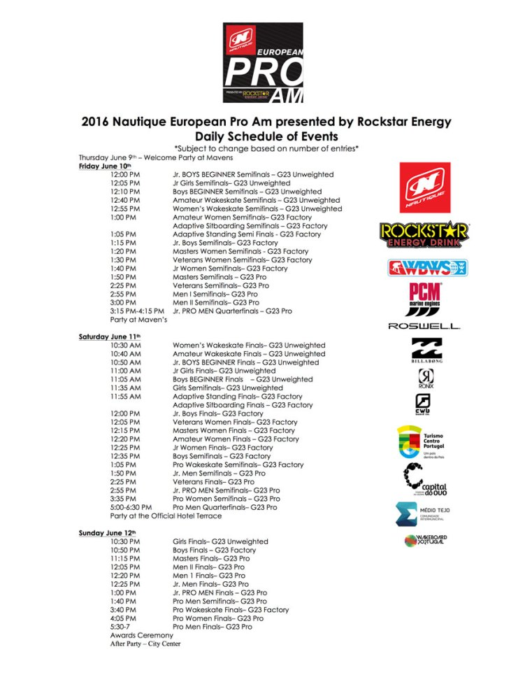 Pro-Am-Daily-Schedule