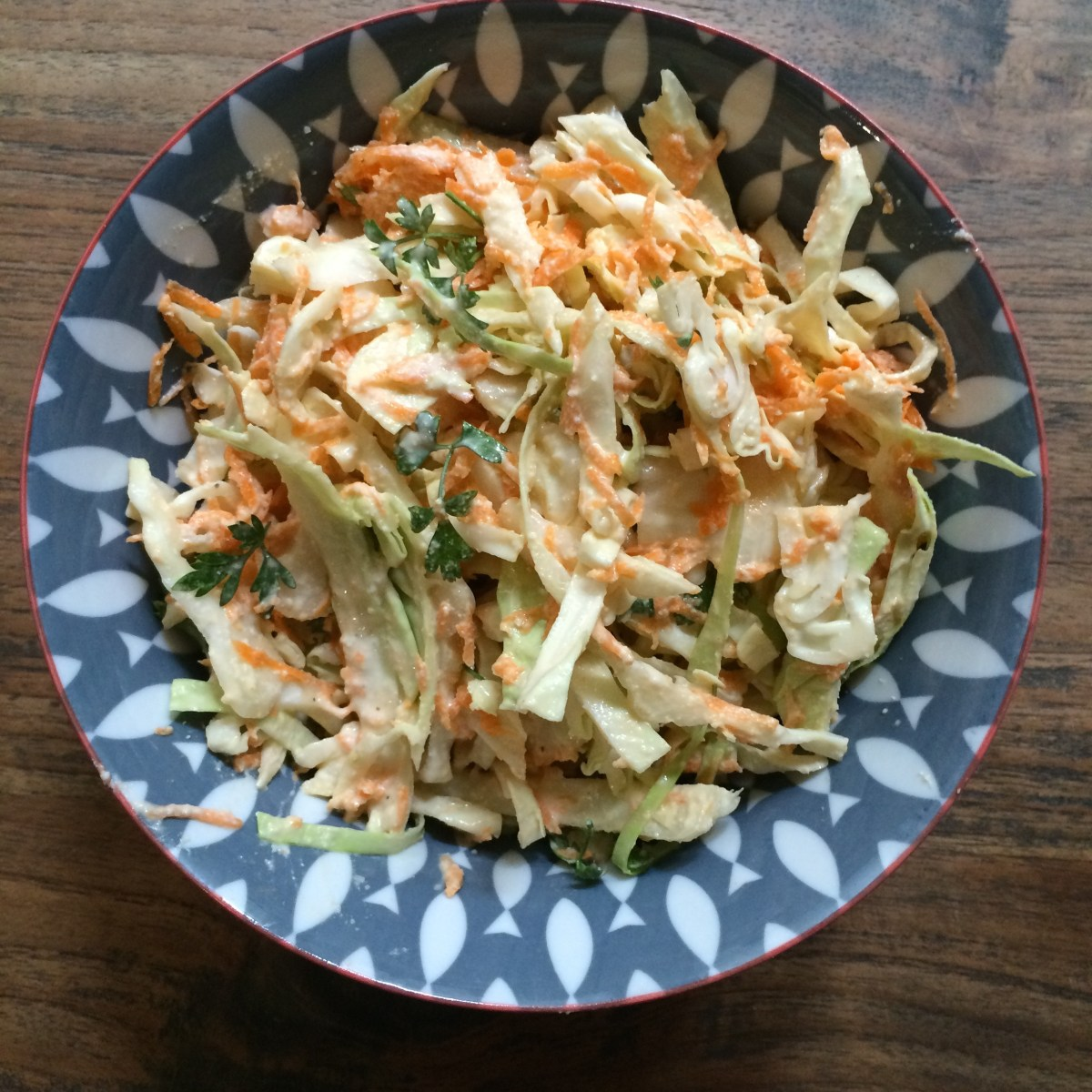 Vegan Coleslaw (inspired by Dr Libby, Real Food Chef)