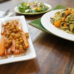 Sweet potatoes with chickpeas