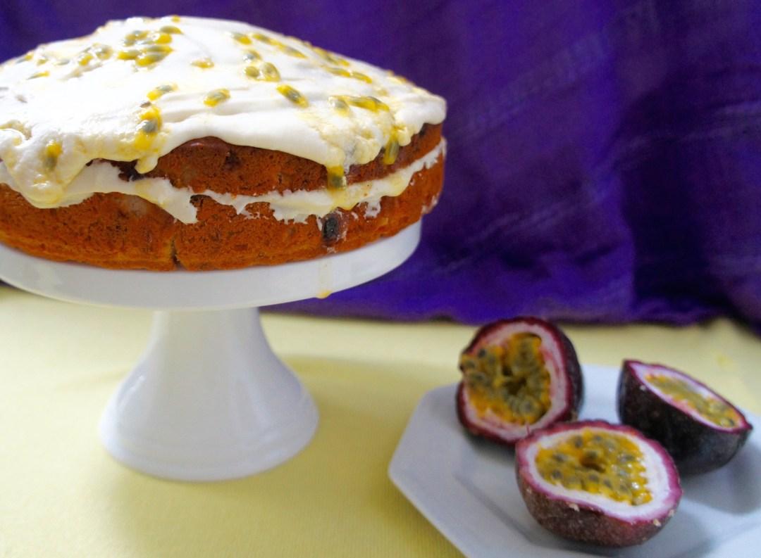 Vegan Banana And Passionfruit Cake