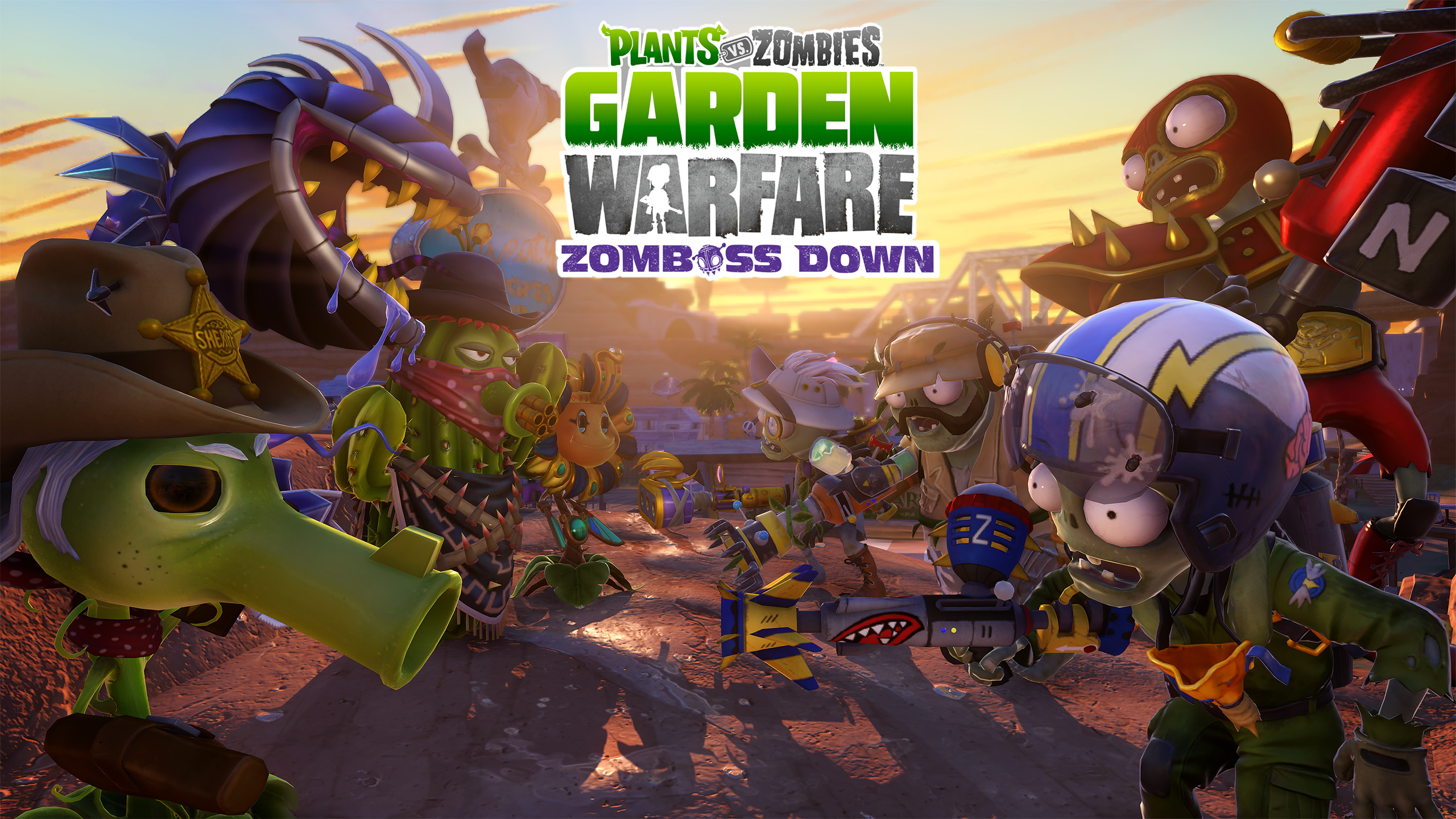 Zomboss Down DLC now available for Plants vs Zombies Garden Warfare ...