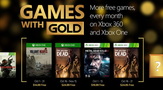 games with gold oct 2015