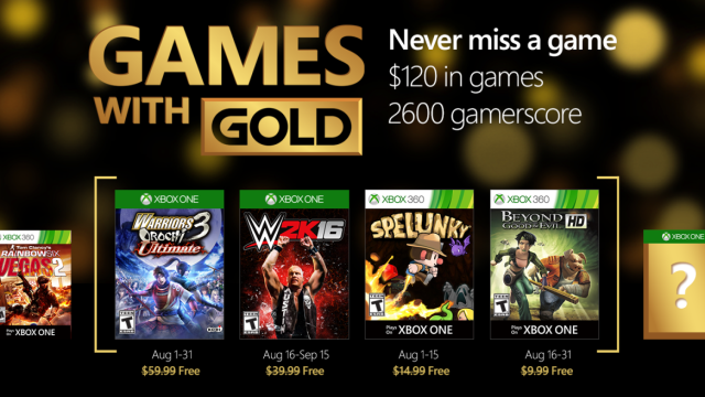 games with gold aug 2016