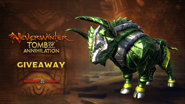 Enter now – Neverwinter Gorgon Mount Code Giveaway on Xbox