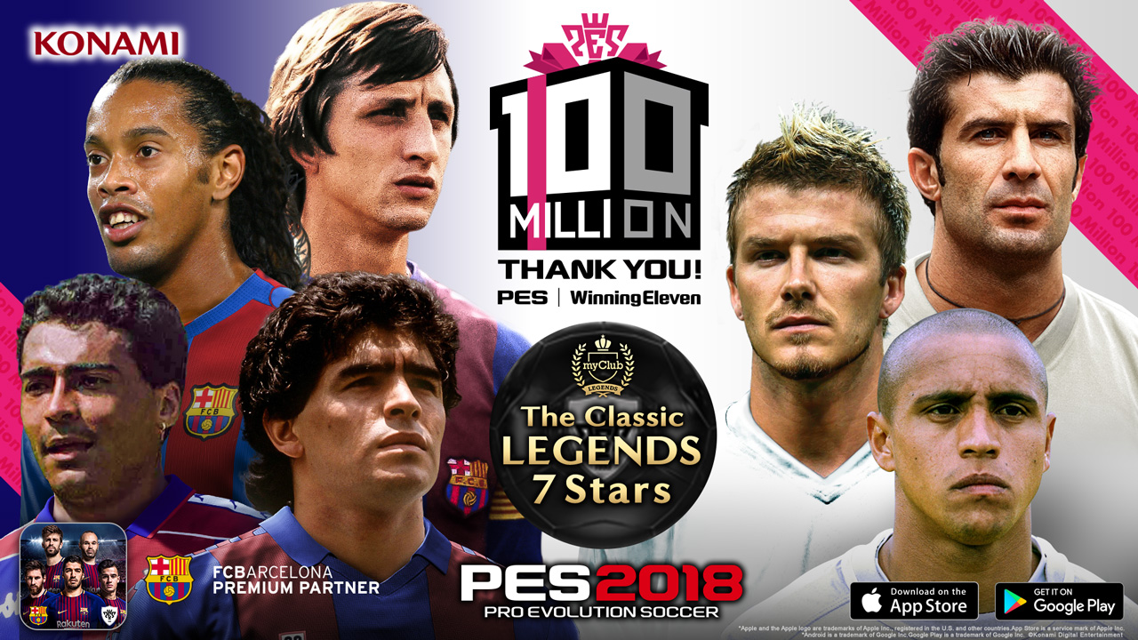 Celebrate 100 million PES sales with in-game PES 2018