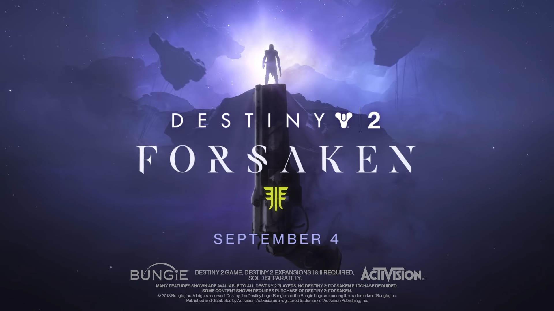 Destiny 2: Forsaken - Legendary Collection gets September release