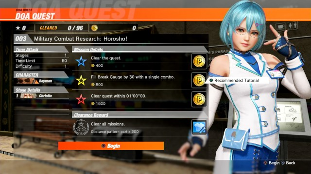 dead or alive 6 quest