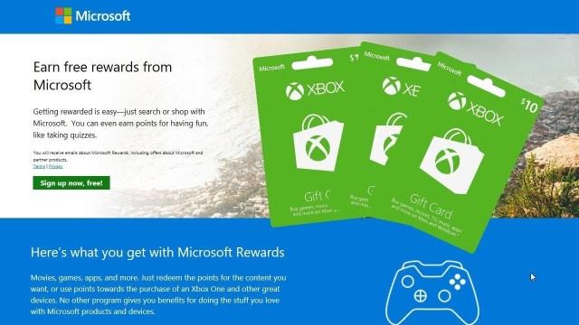 microsoft rewards xbox one