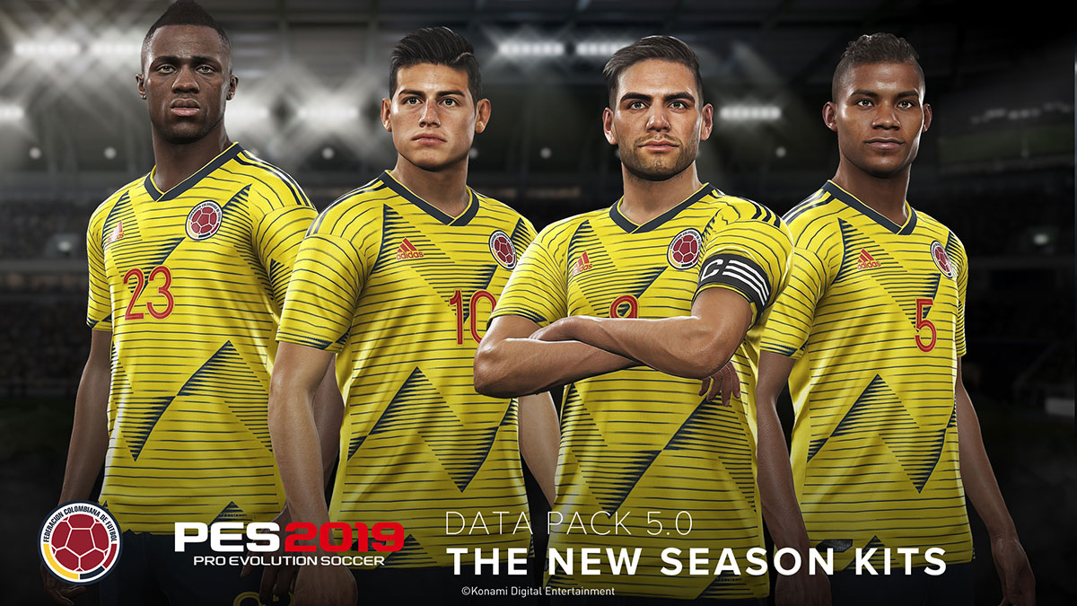Data Pack 5 0 brings new faces, kits and images to PES 2019 | TheXboxHub