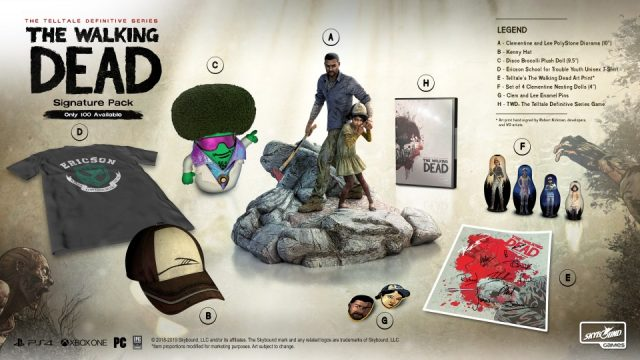 TWD Definitive Series Signature Pack Contents