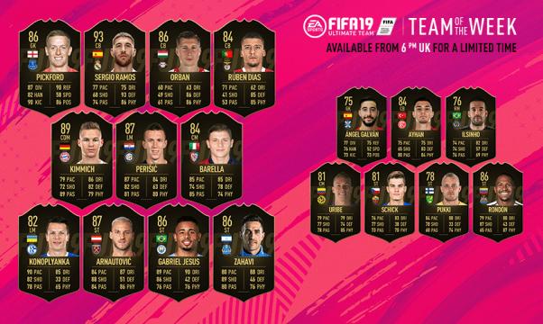 FIFA 19 Team of the Week #39