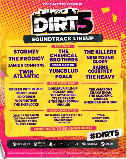 dirt 5 soundtrack