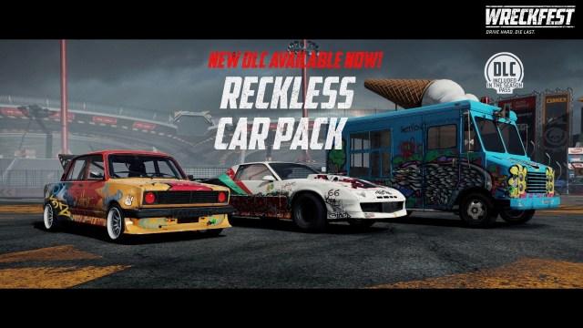 wreckfest reckless car pack