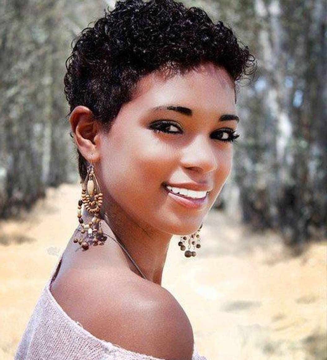 Black Short Natural Curly Hairstyles