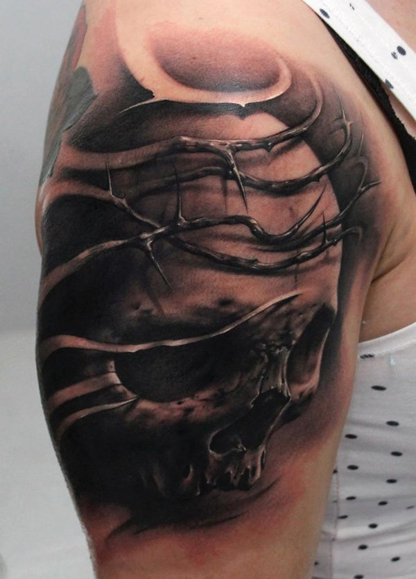 50 Awesome Skull Tattoo Designs The Xerxes