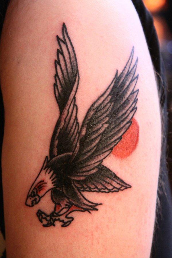 Eagle Tattoo On Hand Simple