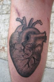 awesome heart tattoo design