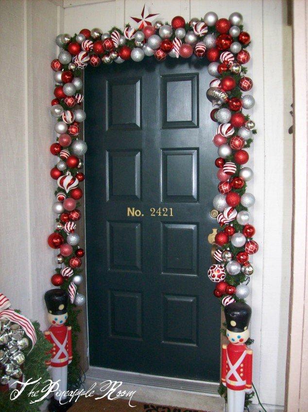 40 Front Door Christmas Decorations Ideas The Xerxes