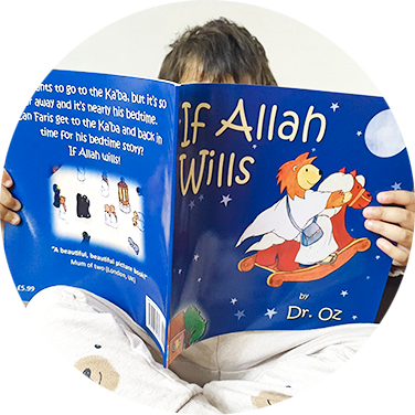 toddler reading If Allah Wills Picture book by dr oz islamic picture book theyrareourfuture.com empowering muslim parents