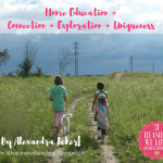 Home Education = Connection +  Exploration + Uniqueness