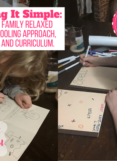 A Large Family Relaxed Homeschool