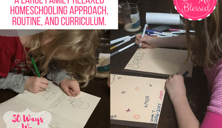 Keeping It Simple: A Large Family Relaxed Homeschool Approach