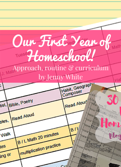 first year of homeschool