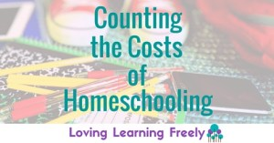 One reason I love homeschooling is that it's not as costly as sending my kids to school. Consider not only the financial costs, but also the time and relational costs expended when a child's primary education happens outside of your home.