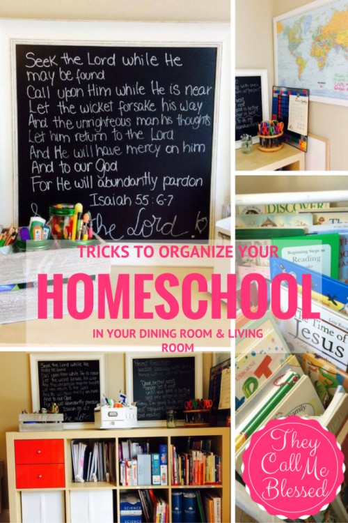 #2 Top Homeschool Post in 2016 - 7 Tricks To Organize Your Homeschool in Your Dinning Room