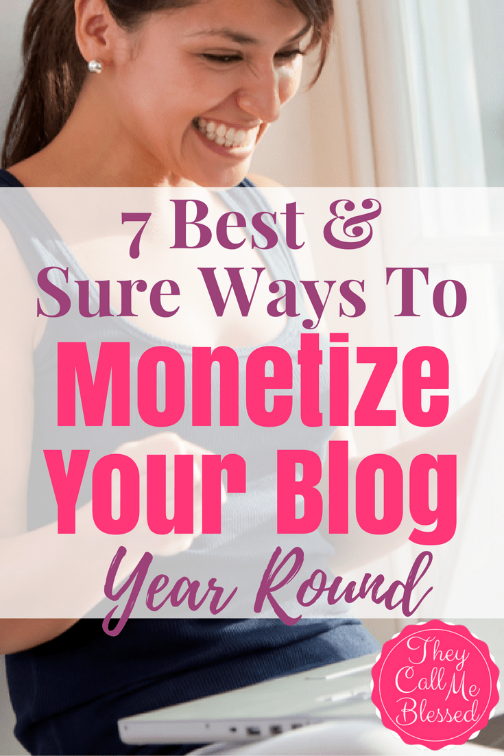 Monetize Your Blog Year Around