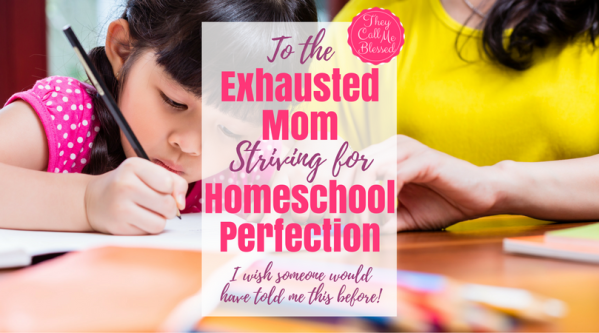 To the Exhausted Mom Striving for Homeschool Perfection. Homeschool Perfection | Homeschool Moms | Homeschool Burnout | Homeschool Exhaustion