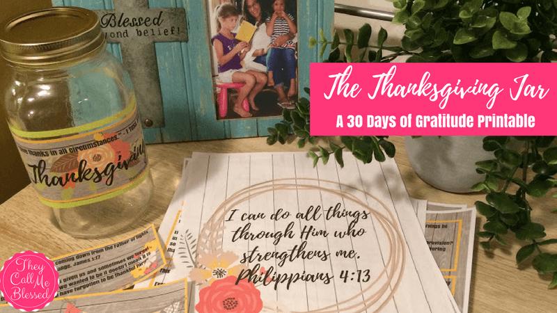 The Thanksgiving Jar – A 30 Days of Gratitude Printable