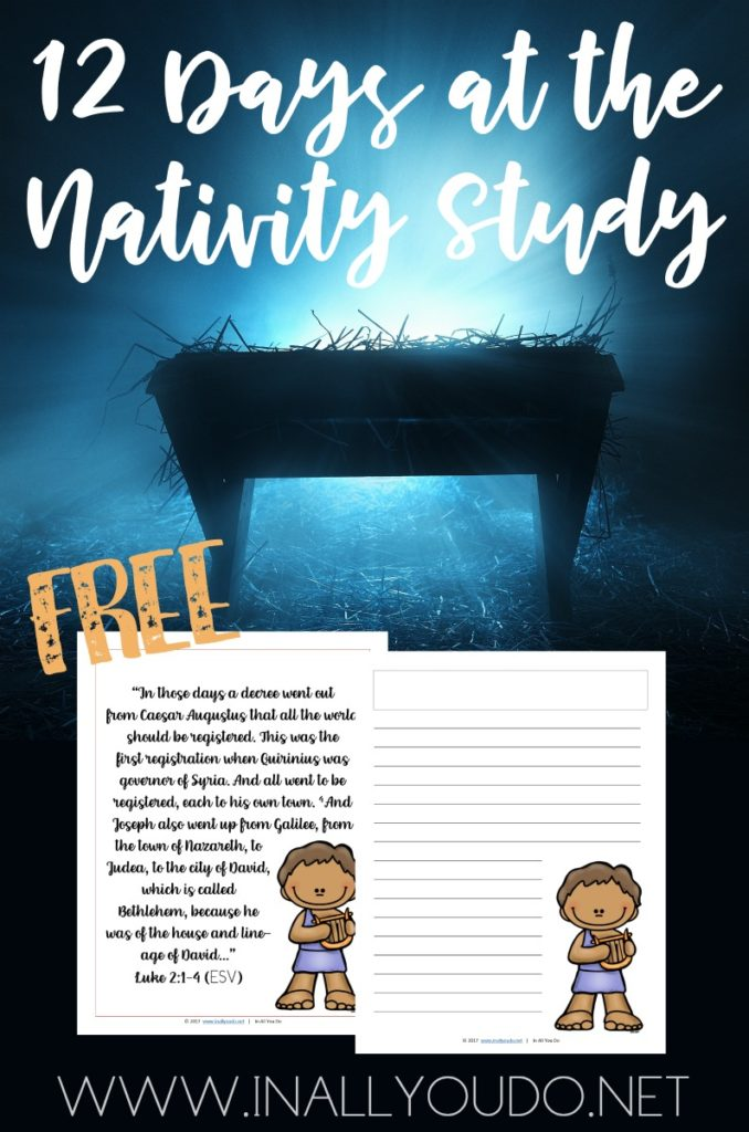 Free 12 Days Nativity Study