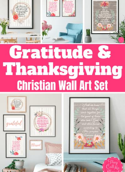 Gratitude & Thanksgiving Scriptures Printable