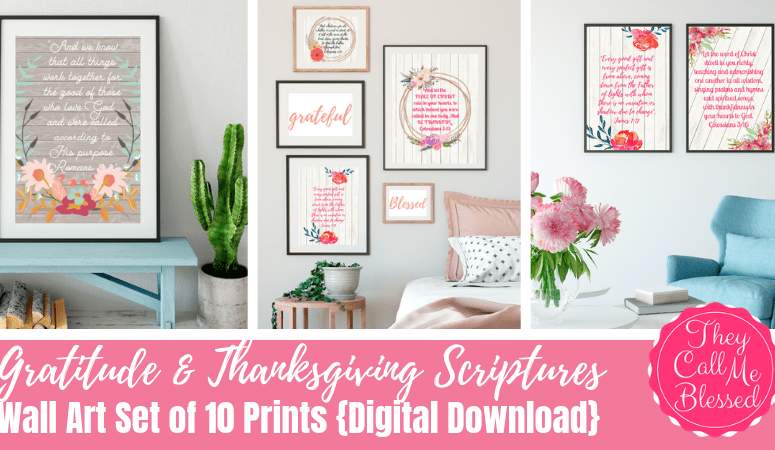 NEW Gratitude & Thanksgiving Scriptures Printable